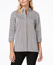 Kasper Pinstriped Shirt, Regular & Petite