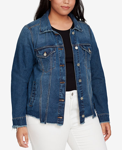 WILLIAM RAST Trendy Plus Size Cotton Denim Jacket