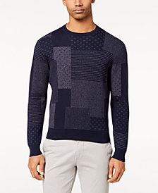 Brooks Brothers Men's Slim-Fit Indigo Patchwork Sweater