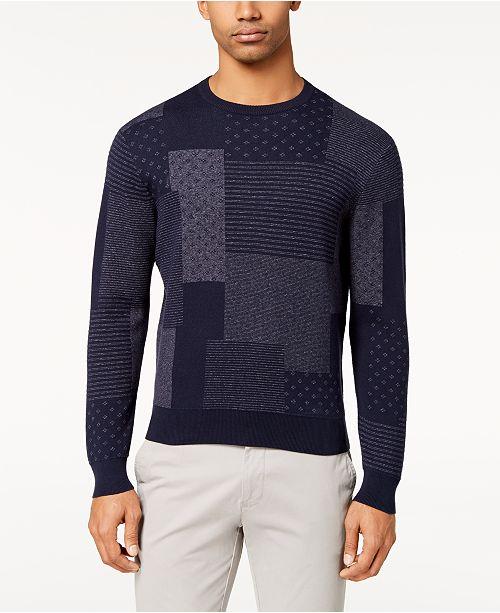 c1841a77542 Brooks Brothers Men s Slim-Fit Indigo Patchwork Sweater   Reviews ...