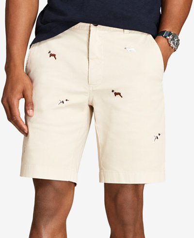 Brooks Brothers Men's Red Fleece Dog-Embroidered Twill 9