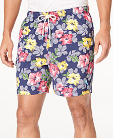 "Tommy Bahama Men's Naples Hibiscus High Line Floral-Print 6"" Swim Trunks"