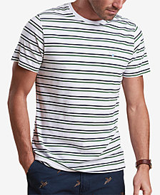 Barbour Men's Duxford White Stripe T-Shirt