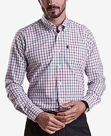 Barbour Men's Henry White Tattersall Check Oxford Shirt