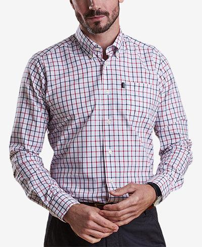 Barbour Men's Henry White Tattersall Check Oxford Shirt