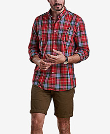 Barbour Men's Oscar Red Plaid Oxford Shirt
