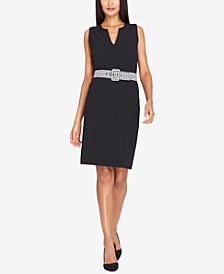 Tahari ASL Belted Sheath Dress