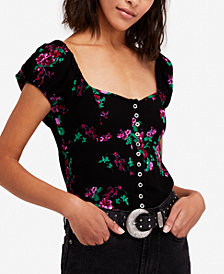 Free People Close To You Floral-Print Blouse