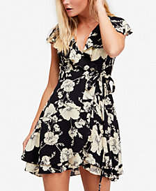 Free People French Quarter Ruffled Wrap Dress