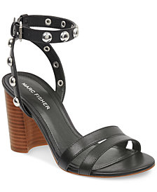 Marc Fisher Lantern Studded City Sandals