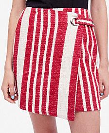 Free People Cotton Striped Wrap Skirt