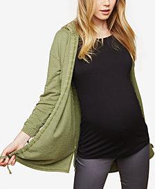 Motherhood Maternity Drawstring French Terry Jacket