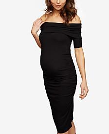 Isabella Oliver Maternity Off-The-Shoulder Sheath Dress
