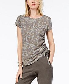 I.N.C. Cotton Camo-Print T-Shirt, Created for Macy's