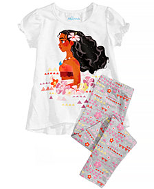 Disney 2-Pc. Moana T-Shirt & Leggings Set, Little Girls
