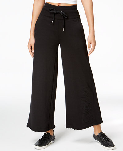 Calvin Klein Performance High-Waist Wide-Leg Ankle Pants