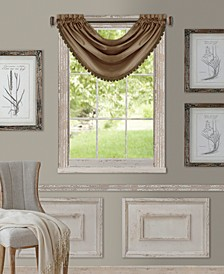 "All Seasons Faux Silk 52"" x 36"" Blackout Waterfall Valance"