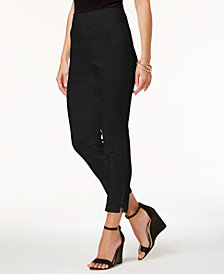 JM Collection Pull-On Ankle-Zip Pants, Created for Macy's