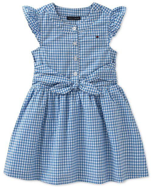 94b1c485 Tommy Hilfiger Tie-front Cotton Gingham Dress, Toddler Girls ...