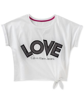 Calvin Klein Cotton Love T Shirt Big Girls Shirts Tees Kids