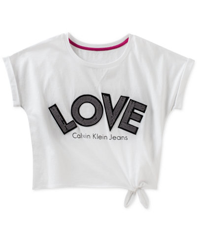 Calvin Klein Cotton Love T-Shirt, Big Girls