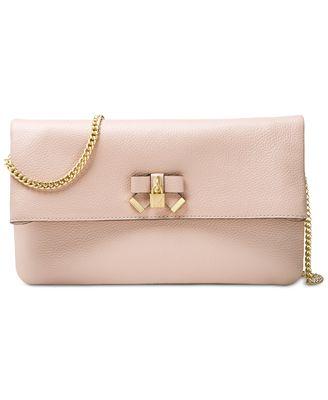 Michael Kors Everly Medium Fold-Over Clutch Bag
