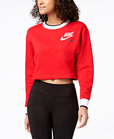 Nike Sportswear Reversible Fleece Cropped Sweatshirt
