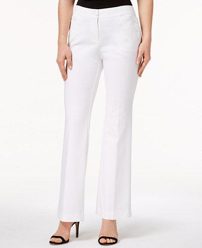 Anne Klein Double-Weave Sailor Pants