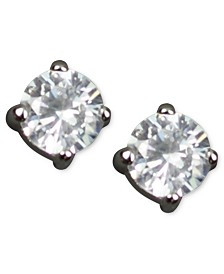Givenchy Earrings, Round Cubic Zirconia Stud (3/4 ct. t.w.)