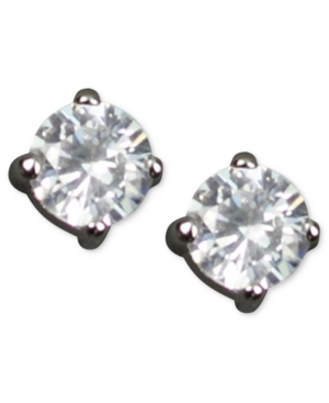 Givenchy Earrings, Round Cubic Zirconia Stud (3 / 4 ct. t.w.)