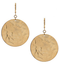 Kenneth Cole New York Earrings, Textured Round Drop