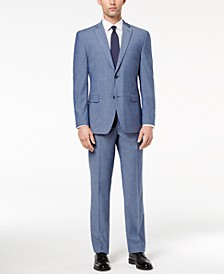 Men's Slim-Fit Performance Stretch Light Blue Suit Separates, Created for Macy's