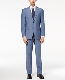 Alfani RED Men's Slim-Fit Performance Stretch Light Blue Suit Separates, Created for Macy's