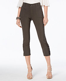 I.N.C. Ruched Cropped Pants, Created for Macy's