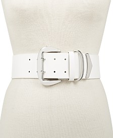 I.N.C. Oversized-Buckle Stretch Belt, Created for Macy's