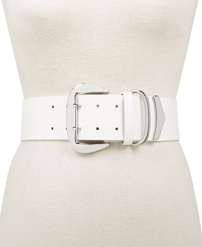 INC International Concepts INC Oversized-Buckle Stretch Belt, Created for Macy's