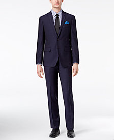 CLOSEOUT! Tallia Orange Men's Modern-Fit Navy Medallion Suit