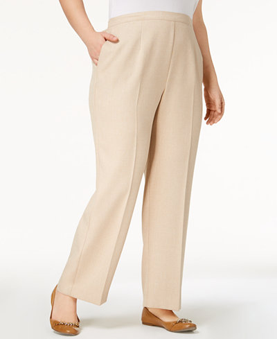 Alfred Dunner Plus Size La Dolce Vita Pull-On Straight-Leg Pants