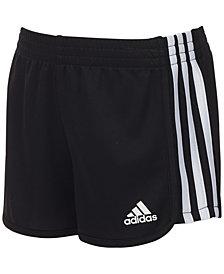 adidas Black Mesh Shorts, Little Girls