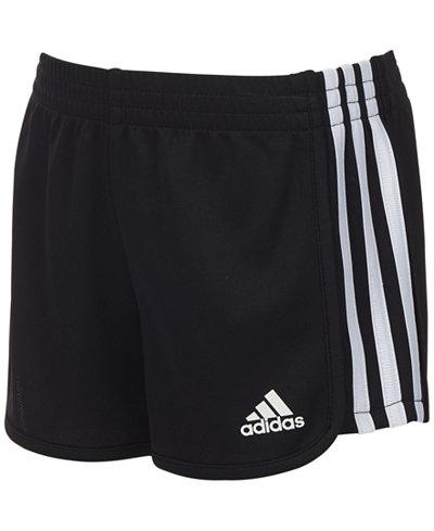 adidas Three-Stripe Mesh Shorts, Toddler Girls