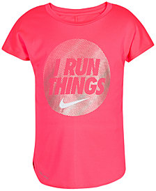 Nike Run-Print T-Shirt, Little Girls