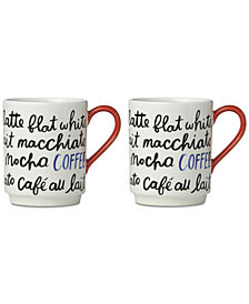 kate spade new york 2-Pc. Piping Hot Coffee Mug Set