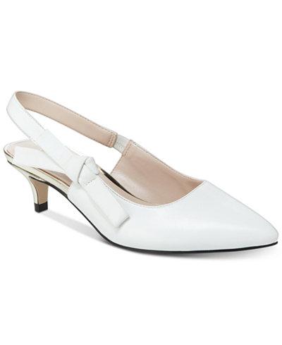 Nanette Nanette Lepore Rhona Slingback Heel - WOMEN - WHITE LEATHER
