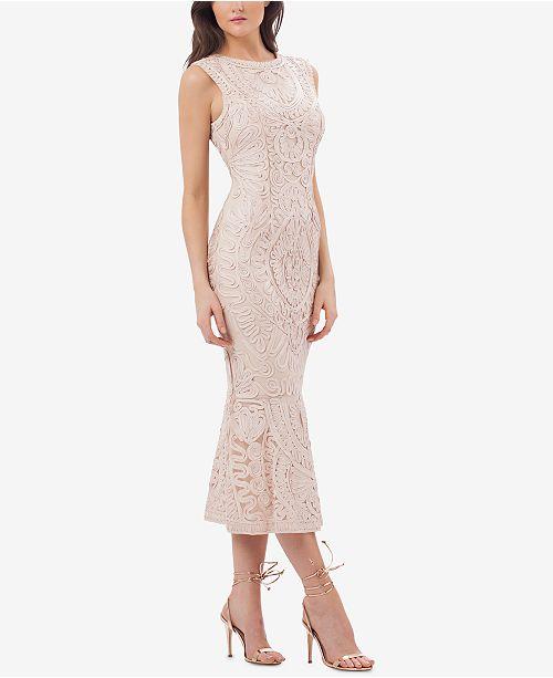 06c55a9217b JS Collections Embroidered Soutache Midi Dress   Reviews - Dresses ...