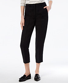 Weekend Max Mara Khat Linen Cropped Pants