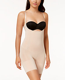 SPANX Women's  OnCore Open-Bust Mid-Thigh Bodysuit 10130R