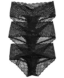 Cosabella Sweet Treats Sheer Lace Hot Pants Hipster 3-Pk. TRTPK3723