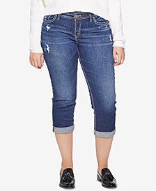 Silver Jeans Co. Plus Size Curvy Capri Jeans