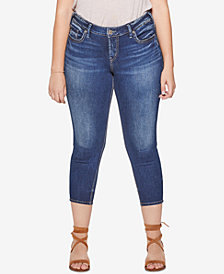 Silver Jeans Co. Plus Size Suki Skinny Cropped Jeans
