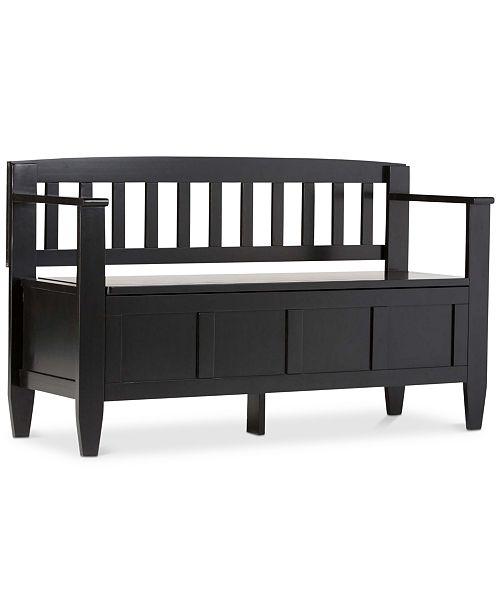 Simpli Home Winslow Storage Bench